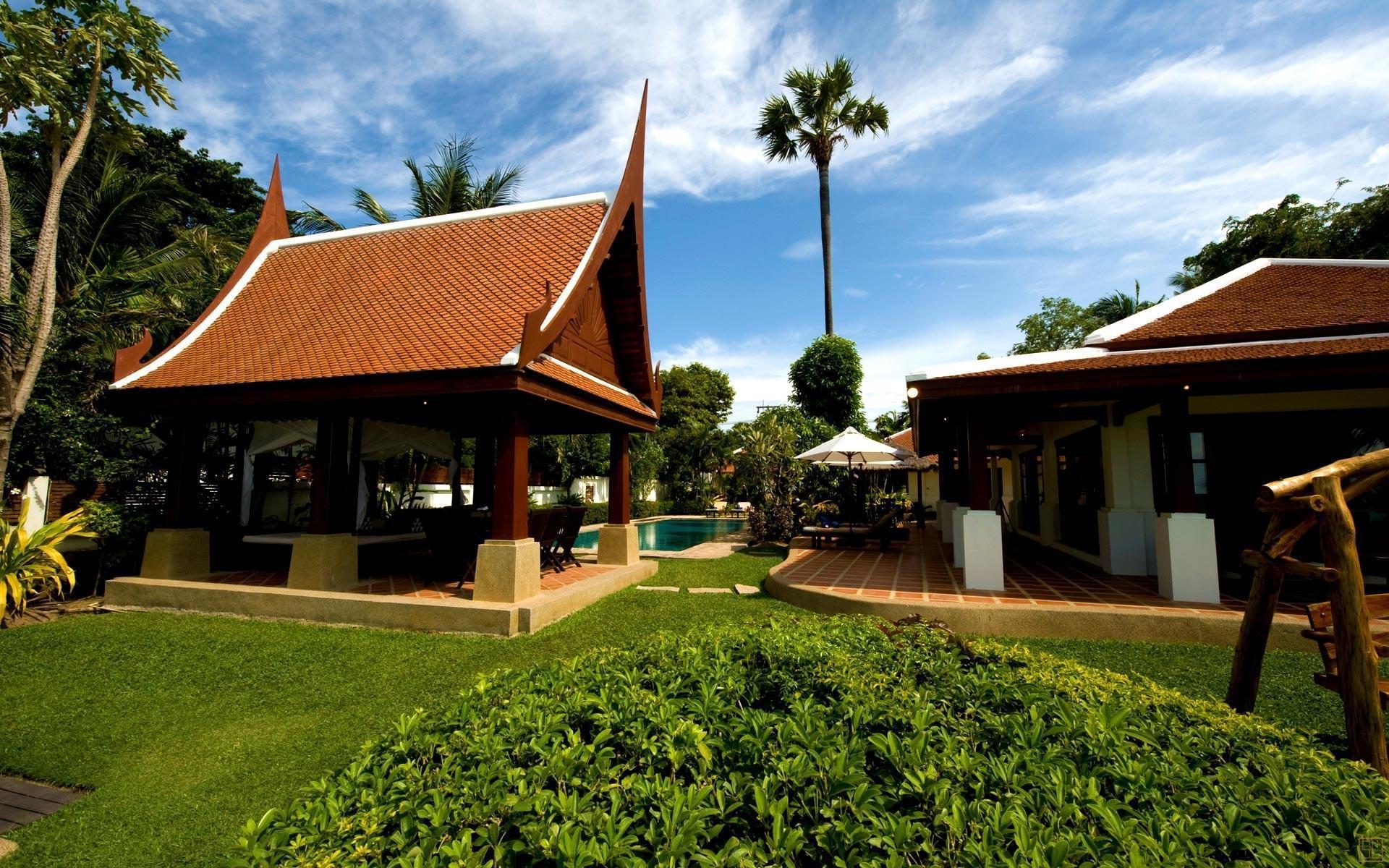 泰国苏梅岛密斯卡湾罗望子别墅庭院
