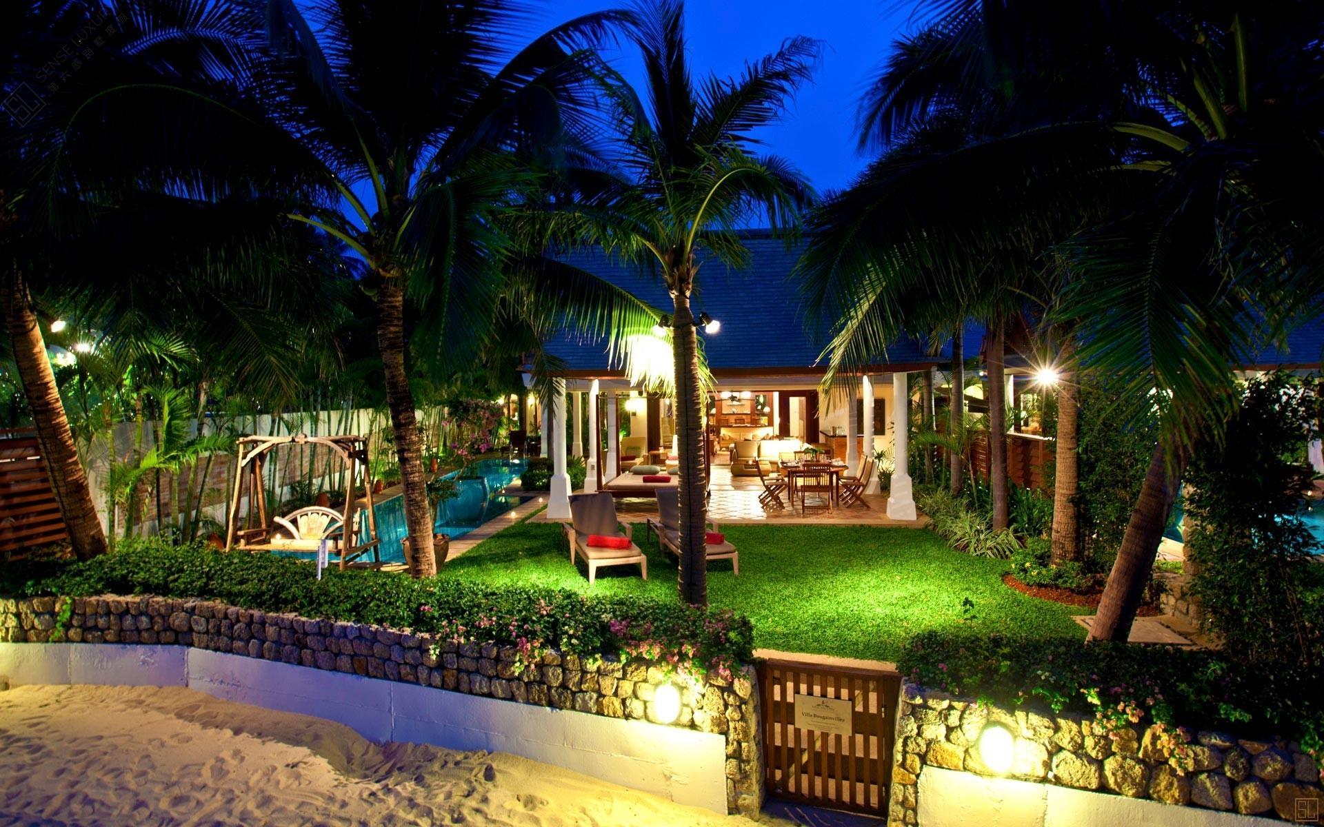 泰国苏梅岛密斯卡湾九重葛别墅庭院