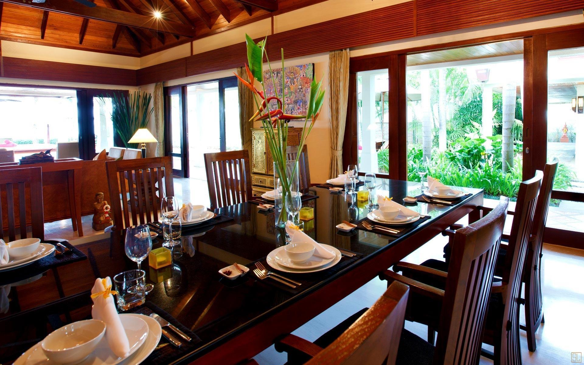 泰国苏梅岛密斯卡湾九重葛别墅就餐区