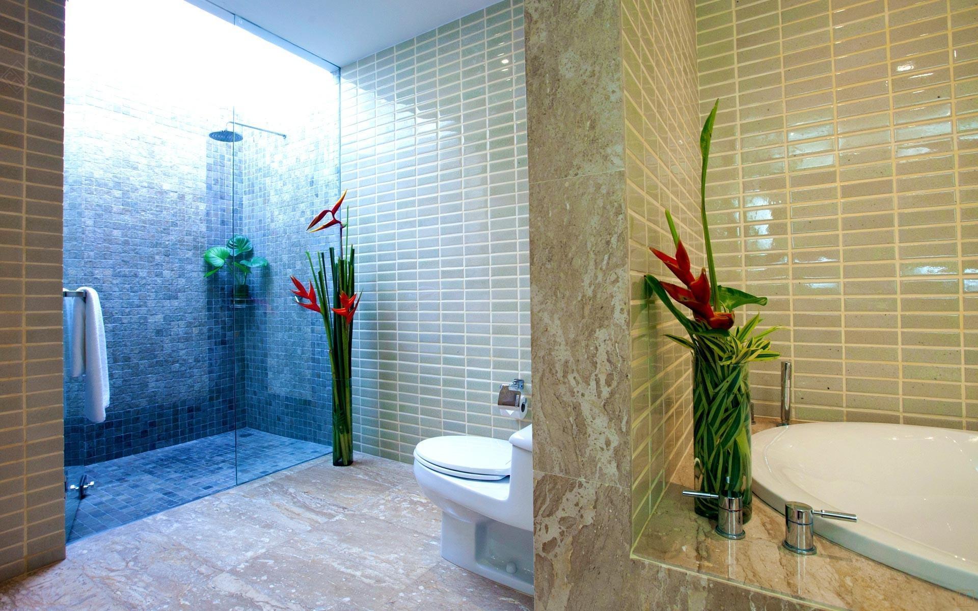 泰国苏梅岛密斯卡湾黄兰别墅浴室