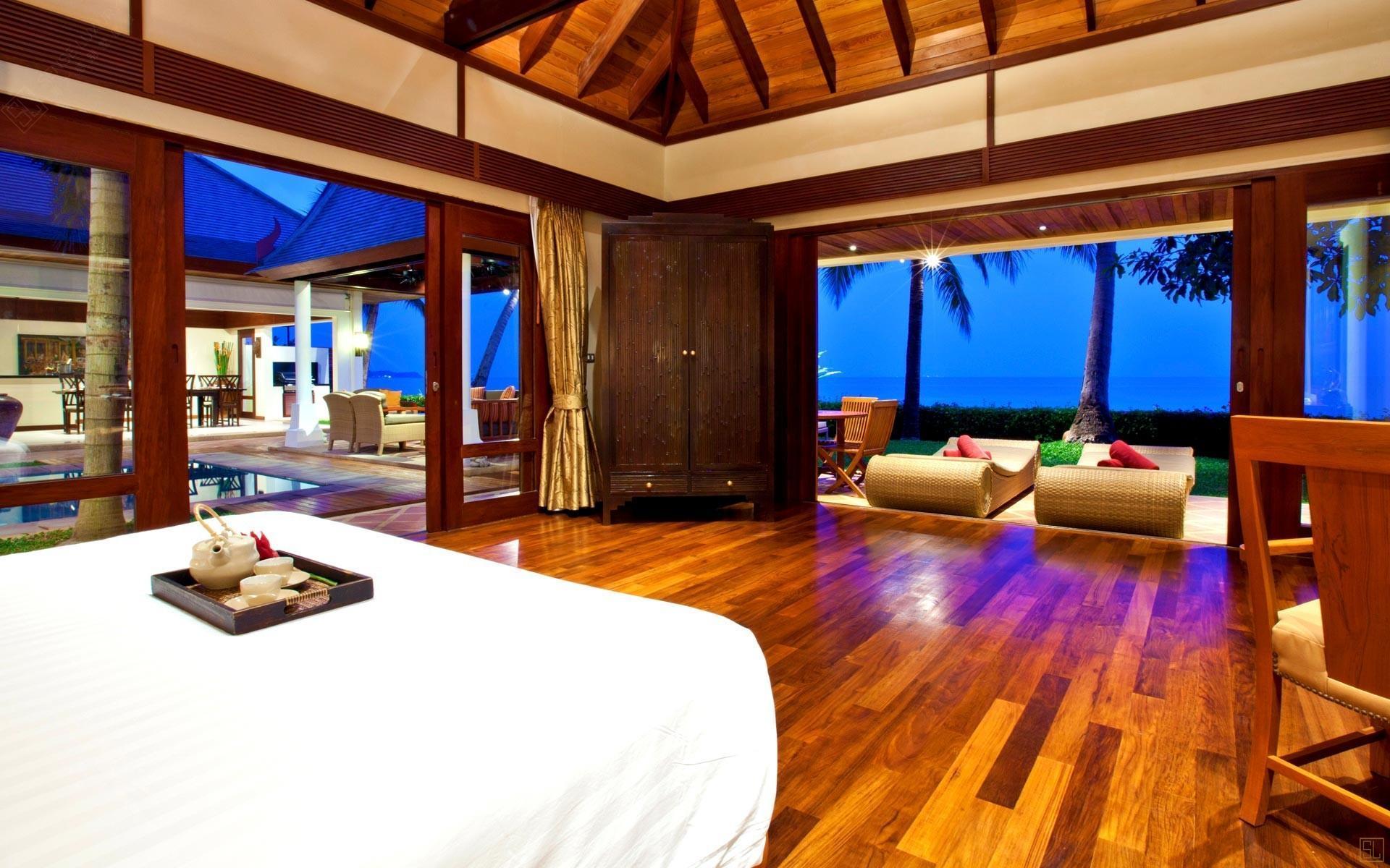 泰国苏梅岛密斯卡湾黄兰别墅观景卧室