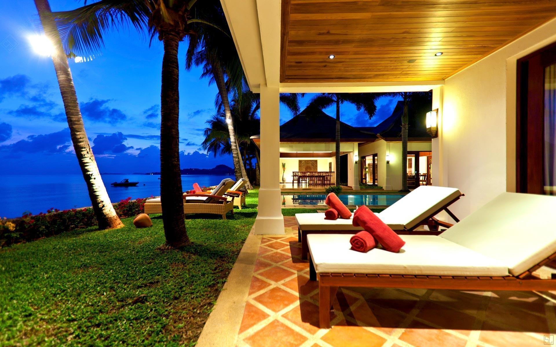 泰国苏梅岛密斯卡湾素馨别墅躺椅