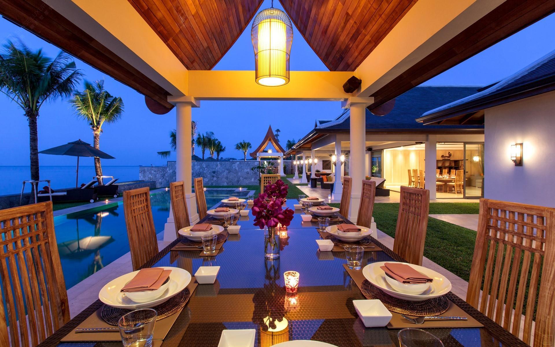 泰国苏梅岛密斯卡湾西拉别墅户外进餐