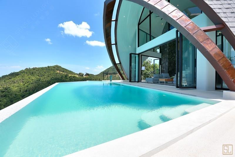 泰国苏梅岛月影别墅泳池