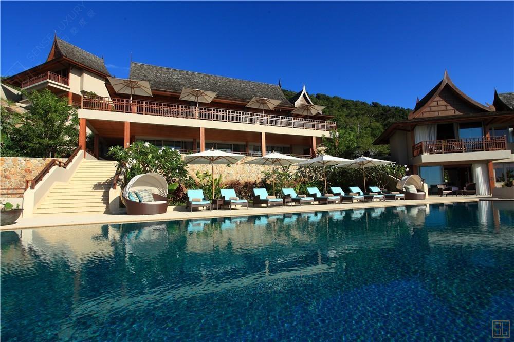 泰国苏梅岛嘉卡湾别墅泳池