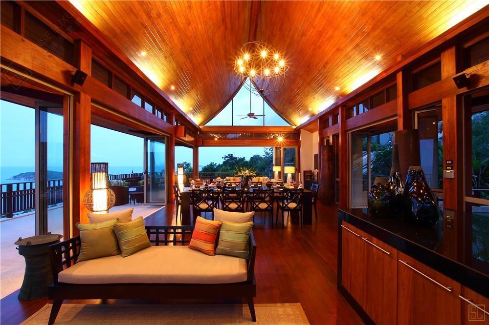 泰国苏梅岛嘉卡湾别墅客厅