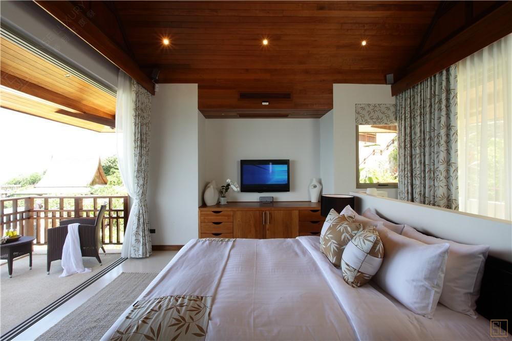 泰国苏梅岛嘉卡湾别墅卧室