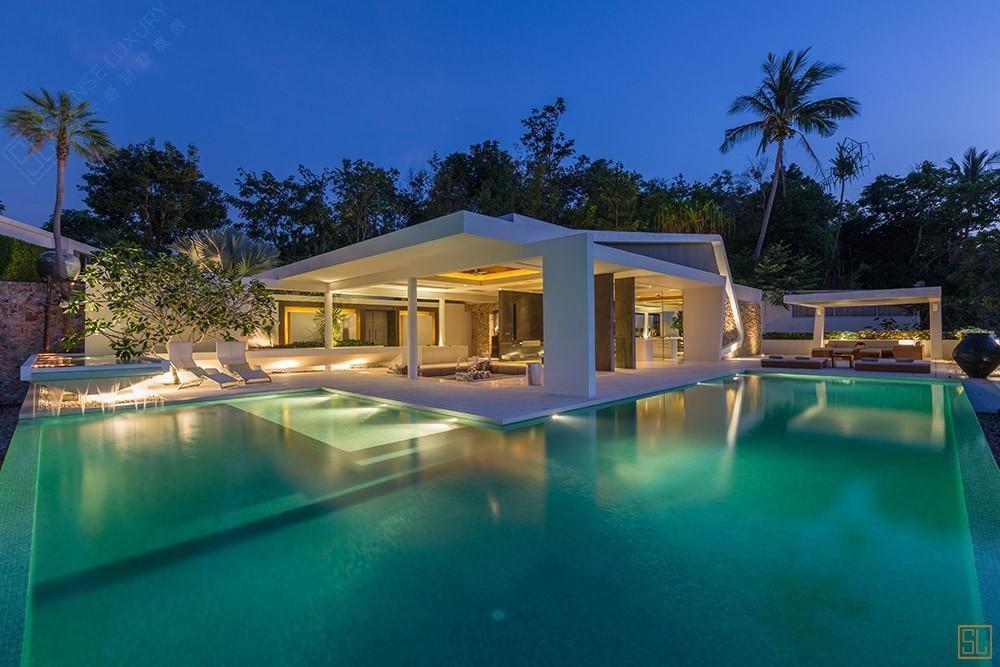 泰国苏梅岛青瓷别墅泳池