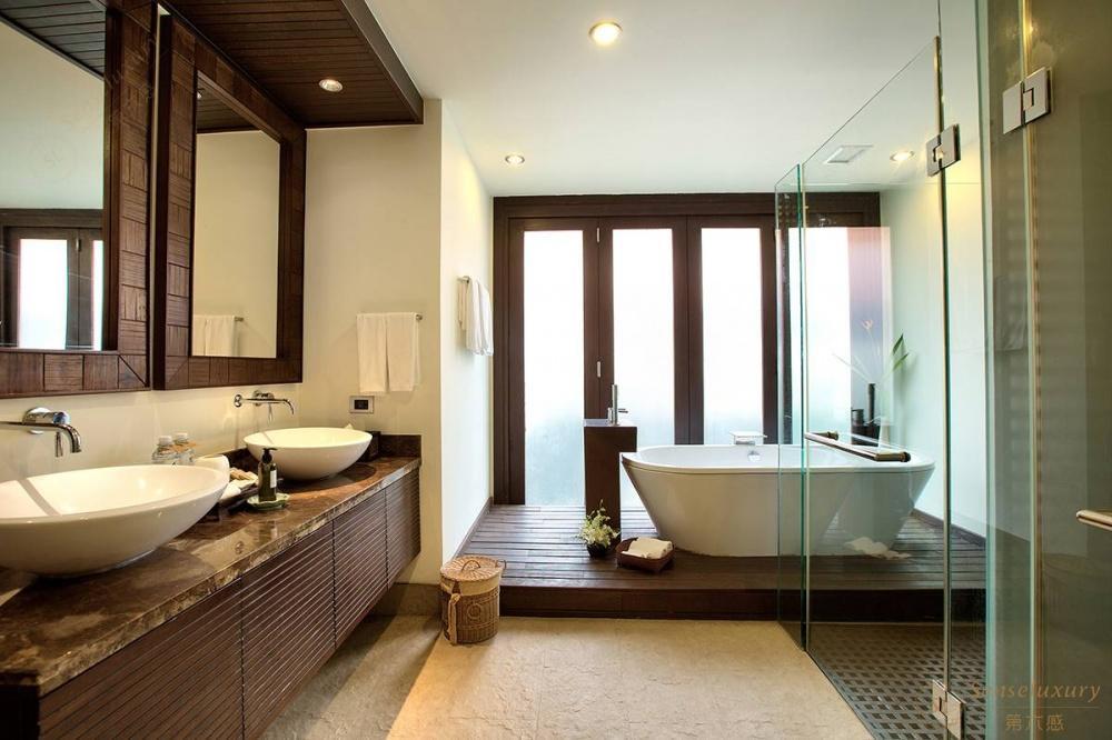 泰国苏梅岛象语别墅浴室