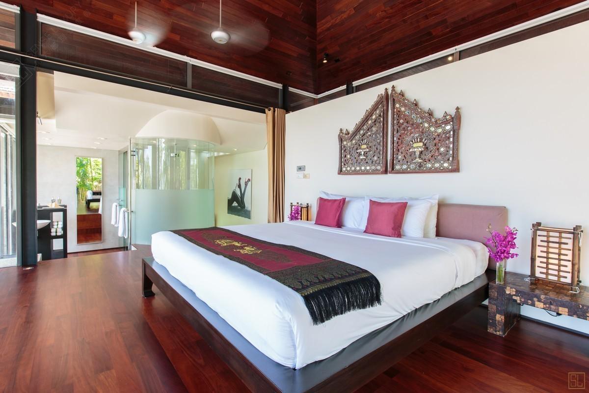 泰国普吉岛萨姆萨拉-利拉瓦蒂别墅卧室